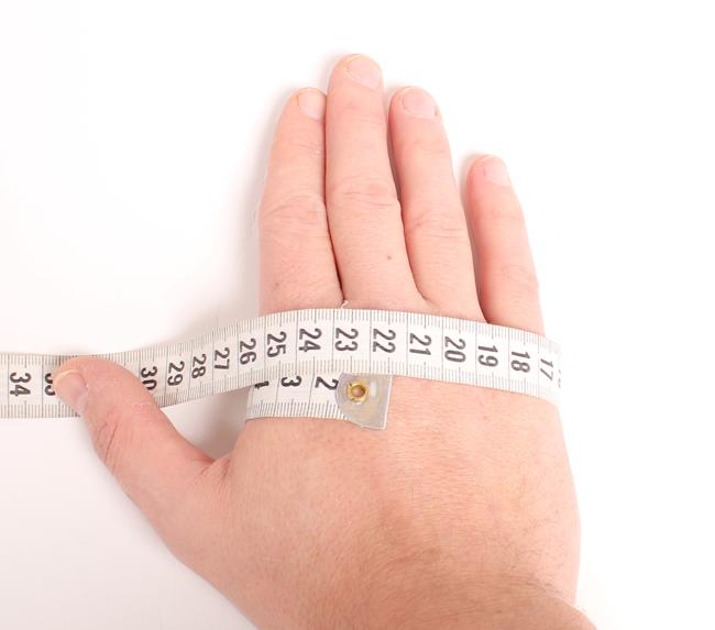 Find den rette handskestørrelse